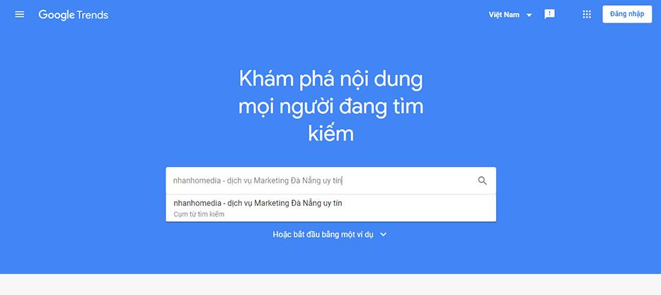 Nghiên cứu từ khoá với Google Trends